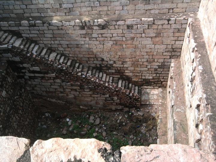 Baoli at Tukhlakhabad Fort