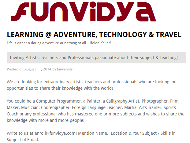 FunVidya Invitation