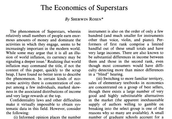 Sherwin Rosen Paper 1981